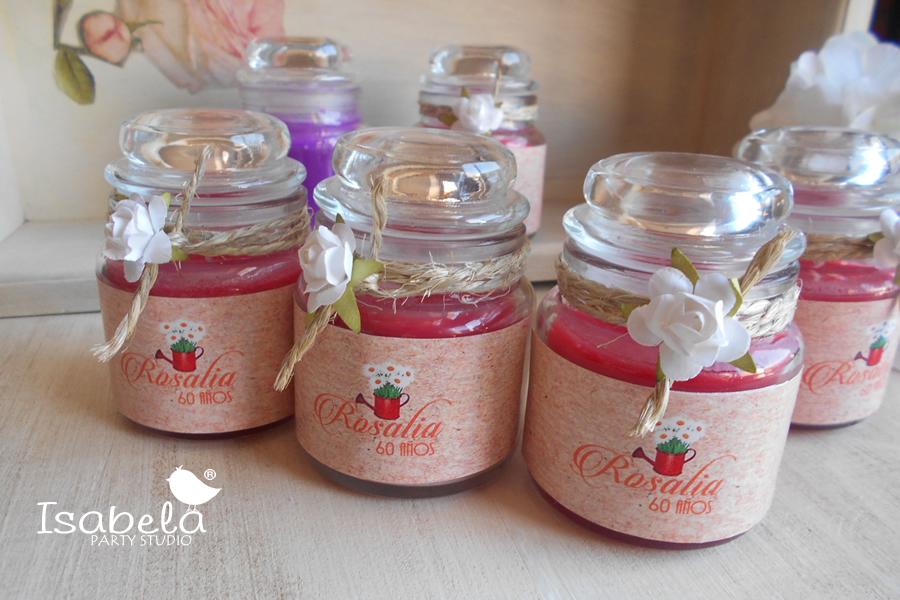 Set de 10 velas aromaticas velas isabela party studio - Etiquetas para velas ...